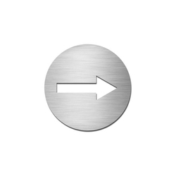 Pictograms round | stainless steel | Direction | Wayfinding | Serafini