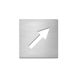 Pictograms square | stainless steel | Direction | Pictogramas | Serafini