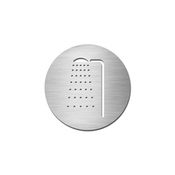 Pictograms round | stainless steel | Shower | Cartelli segnaletici per ambienti | Serafini