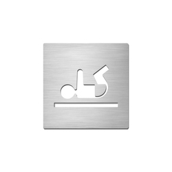 Pictograms square | stainless steel | Baby change | Plaques de porte | Serafini