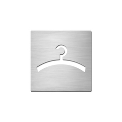 Pictograms square | stainless steel | Cloakroom | Room signs | Serafini
