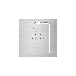 Pictograms square | stainless steel | Shower | Cartelli segnaletici per ambienti | Serafini