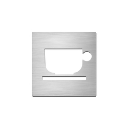 Pictograms square | stainless steel | Break room | Cartelli segnaletici per ambienti | Serafini
