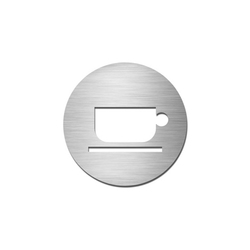 Pictograms round | stainless steel | Break room | Cartelli segnaletici per ambienti | Serafini