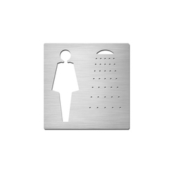 Pictograms square | stainless steel | Ladies shower | Room signs | Serafini