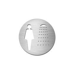 Pictograms round | stainless steel | Ladies shower | Cartelli segnaletici per ambienti | Serafini