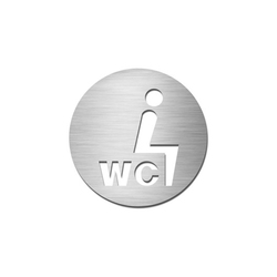 Pictograms round | stainless steel | Sit-down WC | Toilet signs | Serafini