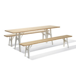Ludwig table and bench | Tables et bancs de restaurant | Lampert