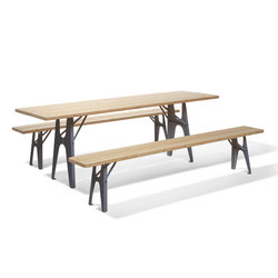 Ludwig table and bench | Mesas comedor | Richard Lampert