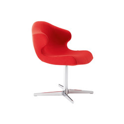 Alster | Alster Carver Chair Central Pedestal - Brilliant Chrome | Chairs | Ligne Roset