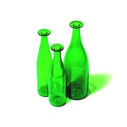 3 Green Bottles | Vases | Cappellini
