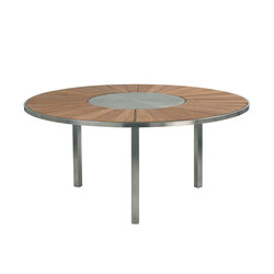 O-Zon OZN 185 table with S/S center | Dining tables | Royal Botania