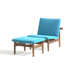 Japan Chair and Footstool | Loungesessel | onecollection