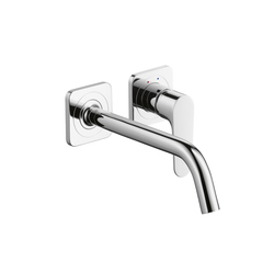 AXOR Citterio M Single Lever Basin Mixer for concealed installation with escutcheons and spout 227mm DN15 wall mounting | Wash basin taps | AXOR