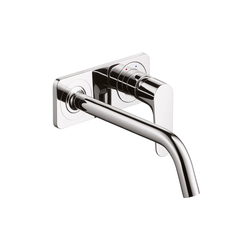 AXOR Citterio M Single Lever Basin Mixer for concealed installation with plate and spout 227mm DN15 wall mounting | Wash basin taps | AXOR