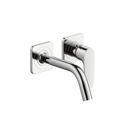 AXOR Citterio M Single Lever Basin Mixer for concealed installation with escutcheons and spout 167mm DN15, wall mounting | Wash-basin taps | AXOR