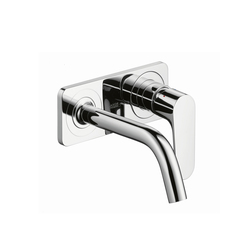 AXOR Citterio M Single Lever Basin Mixer for concealed installation with plate and spout 167mm DN15, wall mounting | Wash-basin taps | AXOR