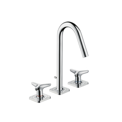 AXOR Citterio M 3-Hole Basin Mixer with star handles and escutcheons, DN15 | Wash-basin taps | AXOR