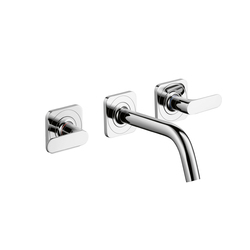 AXOR Citterio M 3-Hole Basic Mixer for concealed installation with escutcheons and spout 166mm DN15 wall mounting | Wash basin taps | AXOR