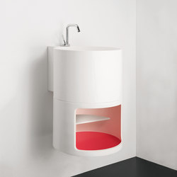 Tambo Wall Mounted Solidsurface® Washbasin | Wash basins | Inbani