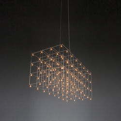 Universe Square suspended lamp | Suspensions | Quasar