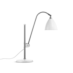 Bestlite BL1 Table lamp | Matt White/Chrome | Arbeitsplatzleuchten | GUBI