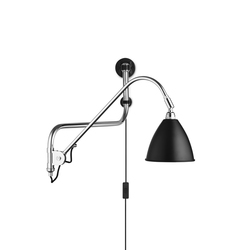 Bestlite BL10 Wall lamp | Black/Chrome | Lampes de bureau | GUBI
