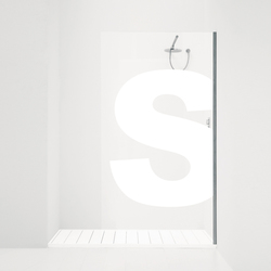 Orne Alfabeto/P | Shower screens | antoniolupi
