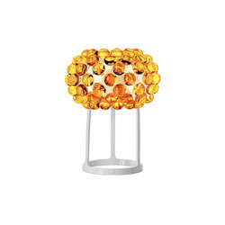 Caboche table small yellow-gold | Luminaires de table | Foscarini