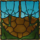 Art Nouveau wall tile F42 | Azulejos de pared | Golem GmbH