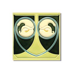 Art Nouveau wall tile F17.V2 | Azulejos de pared | Golem GmbH