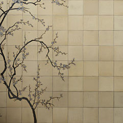 Cherry tree mural | Peintures murales / art | Ann Sacks
