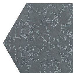 Tendril hexagon 30x35 | Concrete / cement flooring | Ann Sacks