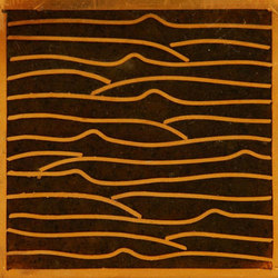 Pleats gold amber 5x5 | Carrelage mural | Ann Sacks