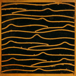 Pleats gold black 5x5 | Carrelage mural | Ann Sacks