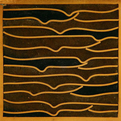 Pleats gold amber black 5x5 | Carrelage mural | Ann Sacks