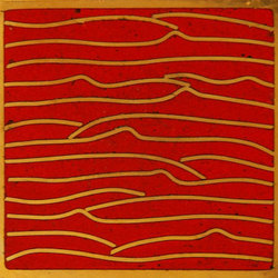 Pleats gold red 5x5 | Carrelage mural | Ann Sacks