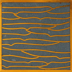Pleats gold slate blue 5x5 | Piastrelle per pareti | Ann Sacks