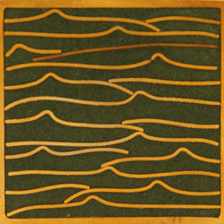 Pleats gold green 5x5 | Carrelage mural | Ann Sacks