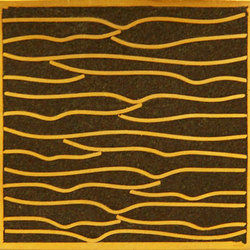 Pleats gold moss 5x5 | Piastrelle per pareti | Ann Sacks