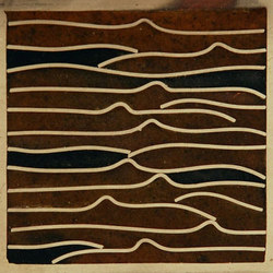 Pleats nickel amber/black 5x5 | Carrelage mural | Ann Sacks