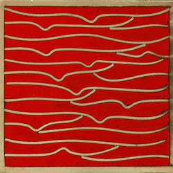 Pleats nickel red 5x5 | Carrelage mural | Ann Sacks