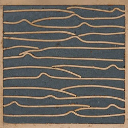 Pleats nickel slate blue 5x5 | Carrelage mural | Ann Sacks