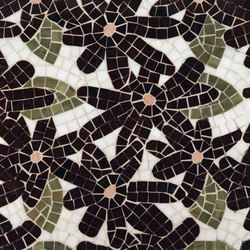 Flower Power mosaic | Mosaicos de piedra natural | Ann Sacks