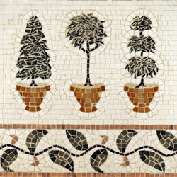 Topiary mosaic | Mosaïques en pierre naturelle | Ann Sacks