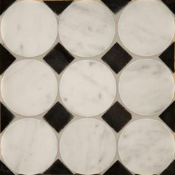 Circle Square 3 mosaic | Mosaicos de piedra natural | Ann Sacks