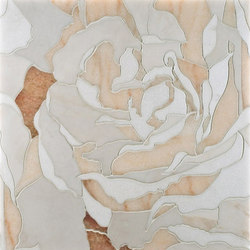 Rose mosaic | Mosaicos de piedra natural | Ann Sacks