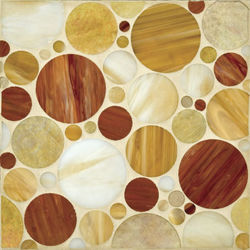 Circles glass mosaic | Mosaïques verre | Ann Sacks