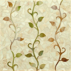 Vine glass mosaic | Mosaïques verre | Ann Sacks