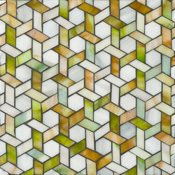 Cane glass mosaic | Mosaïques verre | Ann Sacks